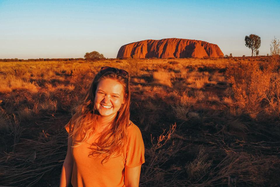 Marit van Groen op wereldreis in Australie.