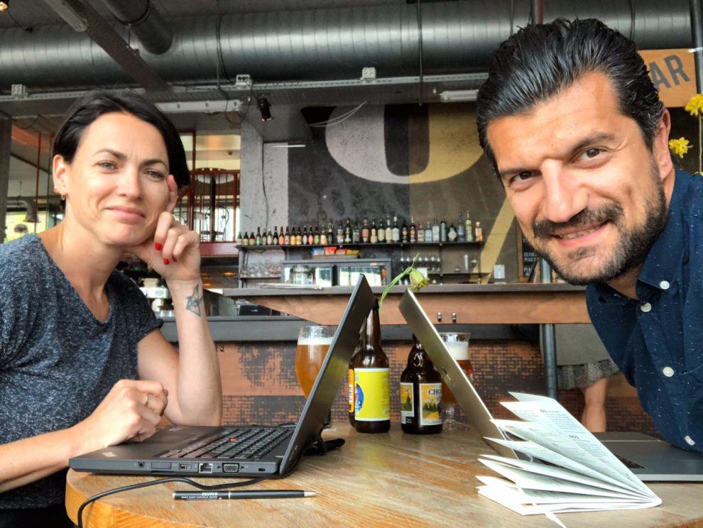 Carlijn en Yalçin in Amsterdam - casa Alba Bed and Breakfast in Spanje -