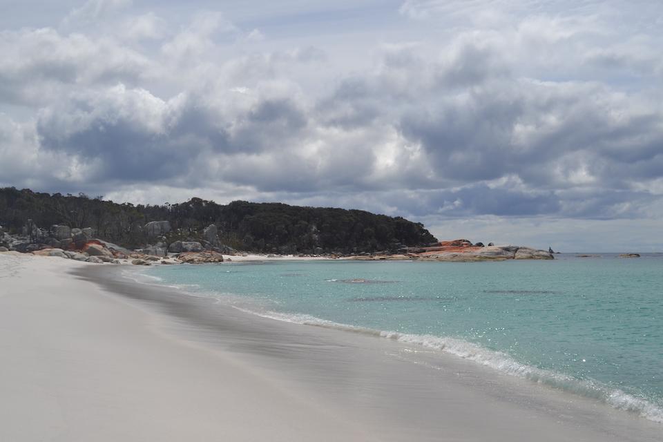 Bay of Fires, strand van Tasmanië.