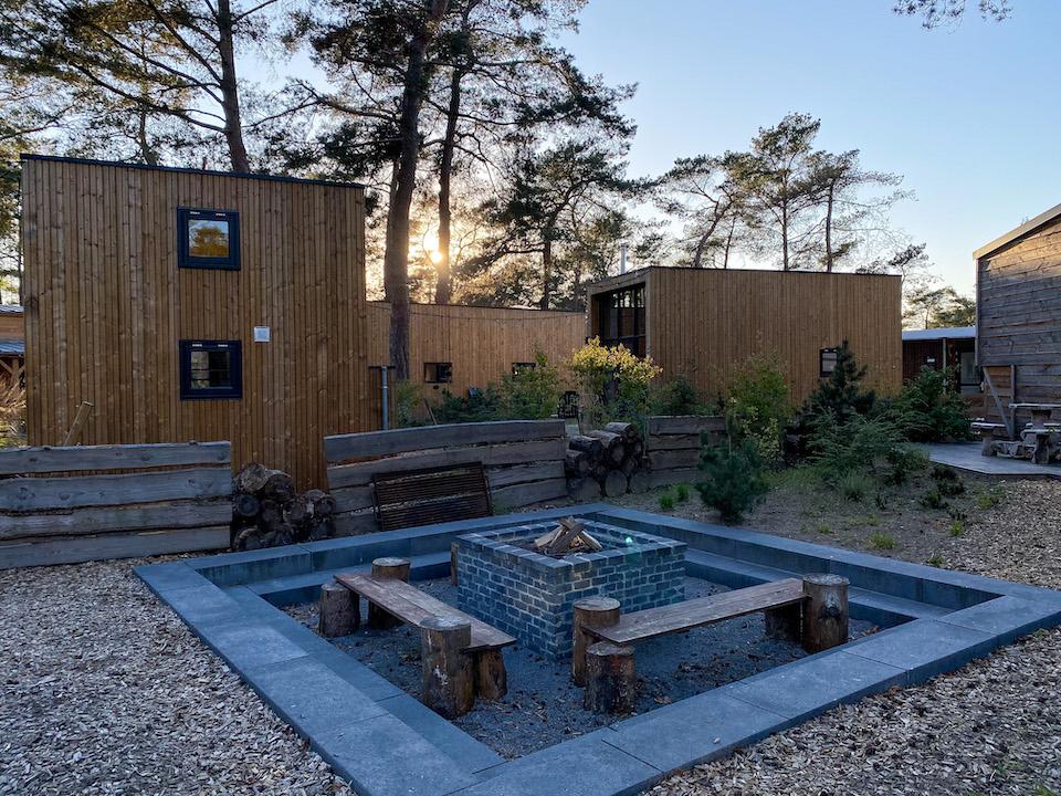 Indeling tinyhouse op droompark de Zanding - bijzonder overnachten in een cabin
