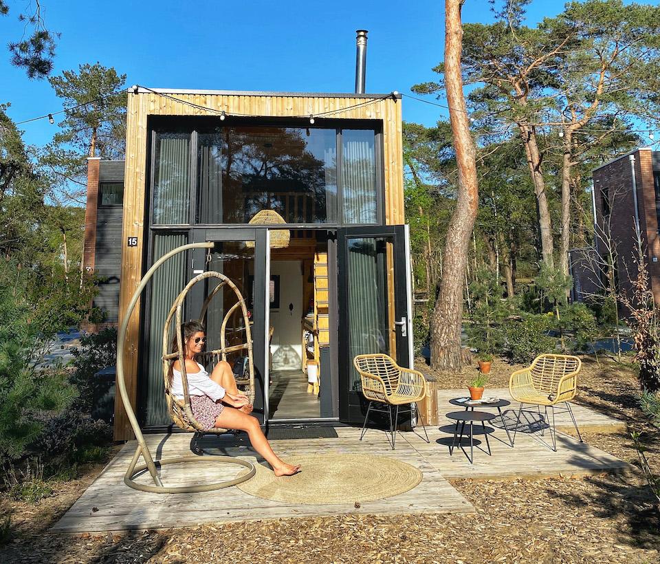 Overnachten natuurhuisje veluwe, tinyhouse Tinyhousetehuur