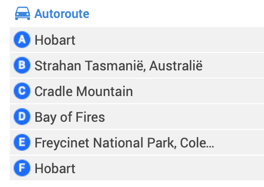 Rondreis Tasmanië - route voor 9 dagen, Hobart, Strahan, Cradle Mountain, Bay of Fires, Freycinet National Park