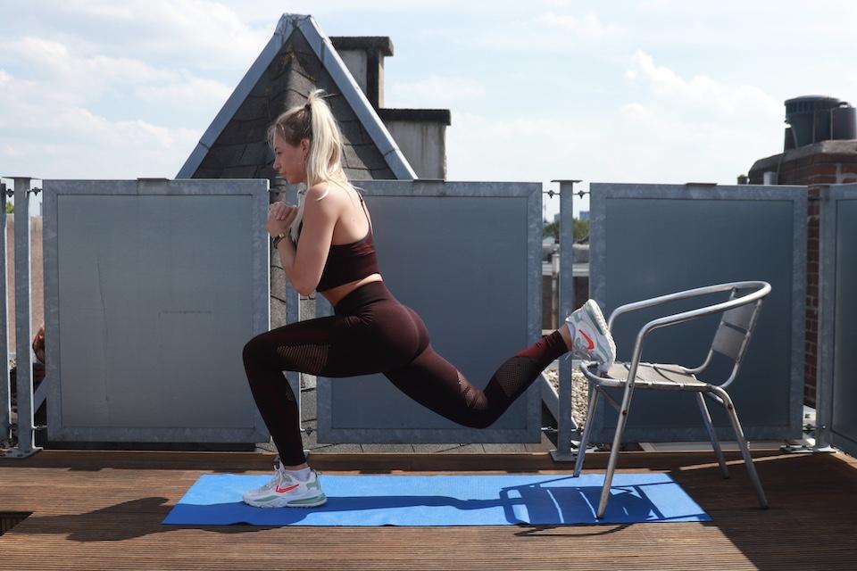 oefening voor benen en billen - Bulgarian split squat