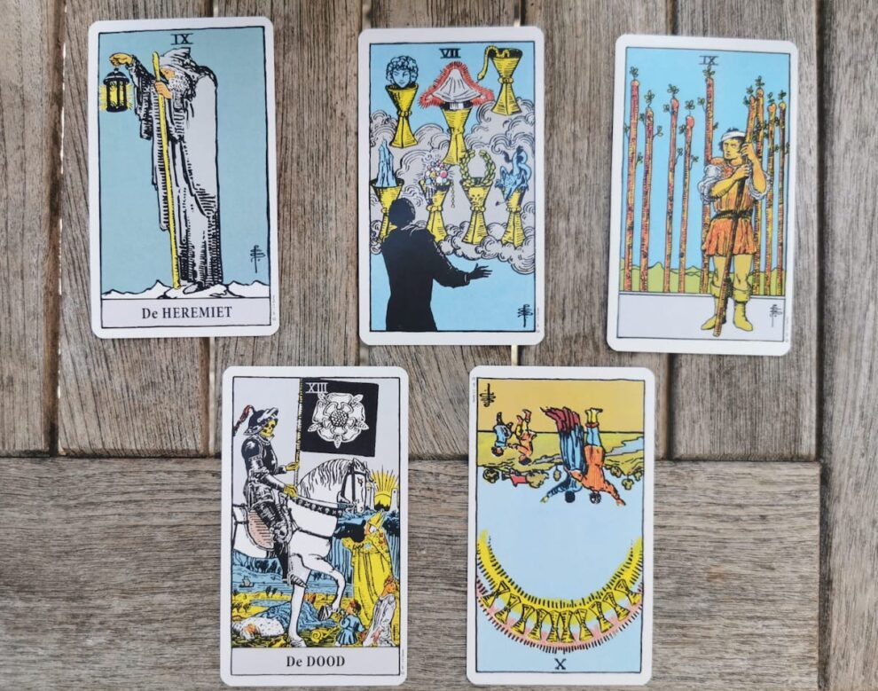 Tarot kaart leggen, Rider-Waite tarot kaarten, spirituele artikelen