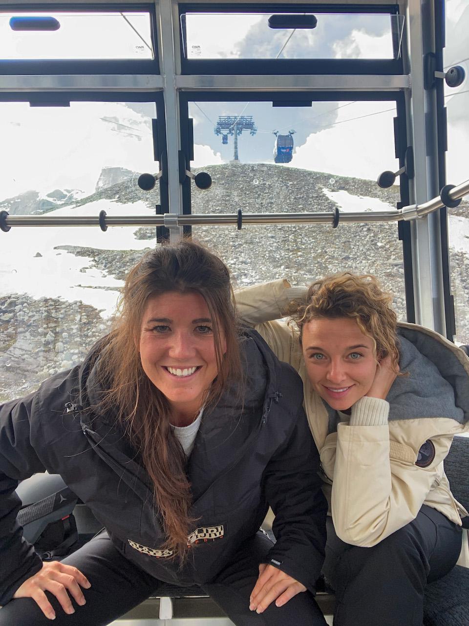 Liften Zomer skiën op de Hintertuxer- samen met juliette Verwije