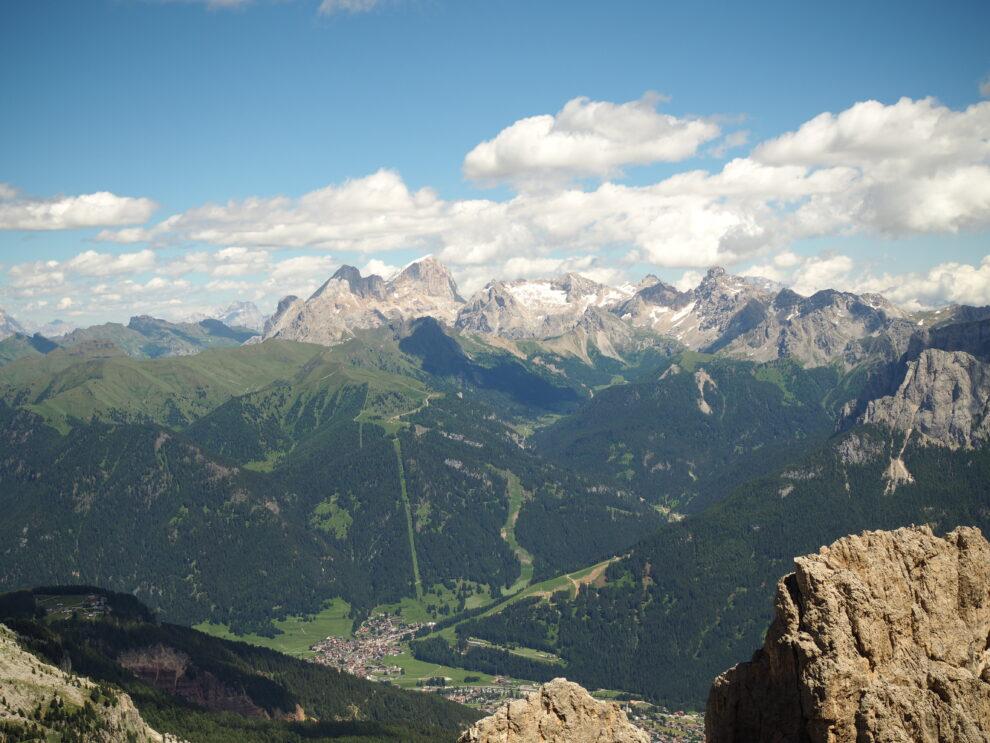 huttentocht Dolomieten uitzicht op Carezza Zuid Tirol