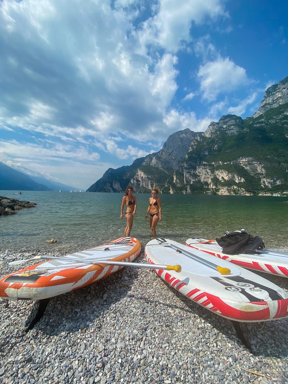 Doen in Riva del Garda - surfen suppen Cascata del Ponale