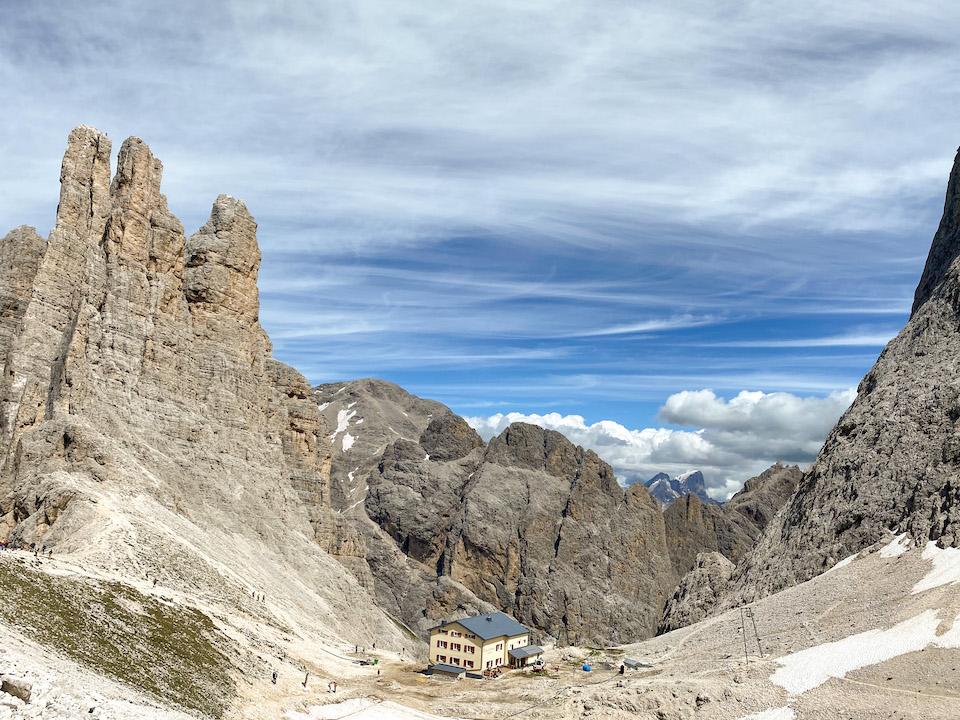 Huttentocht in Italie voor beginners - Torri del vajolet - Vajolet Towers