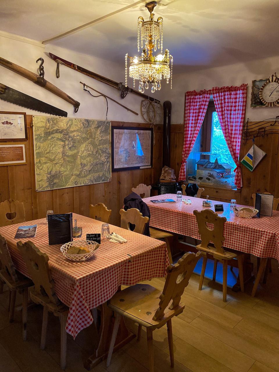huttentocht in de dolomieten, overnachten tips - rifigiol vajolet
