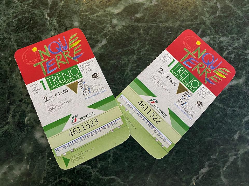 Cinque Terre Treno Card vervoer in Cinque Terre