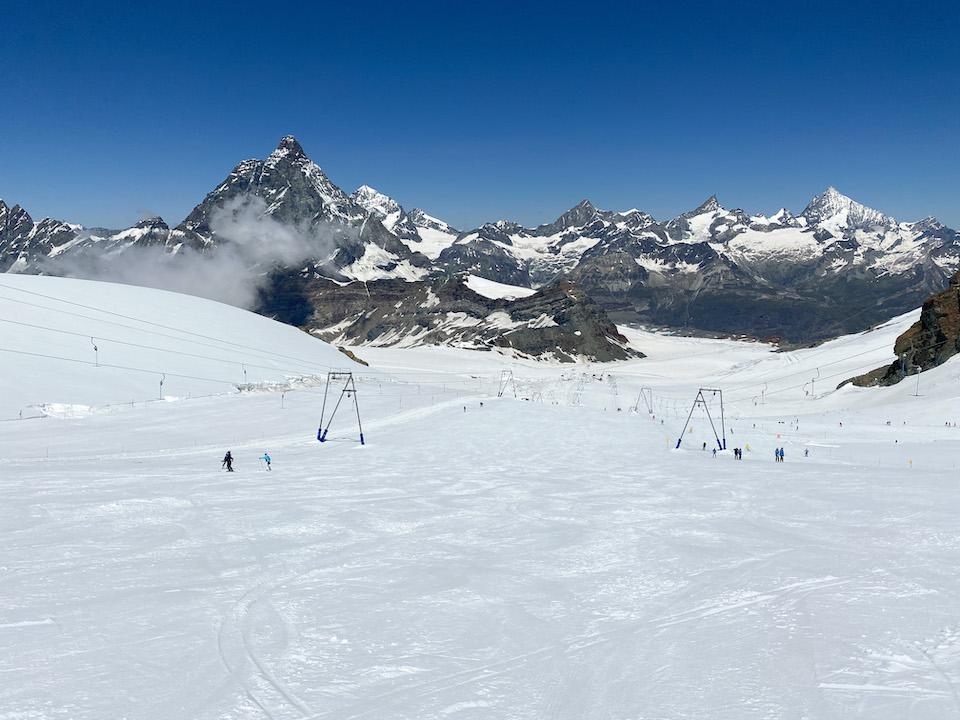 Skien op de Monte Roso Gletjser - skigebied Breuil-Cervinia –MatterhornGlacier Paradise