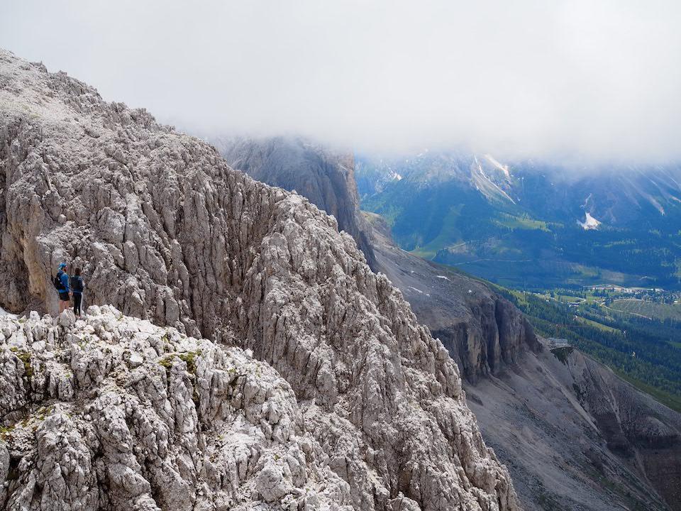 uitzicht vanuit Santnerpasshütte