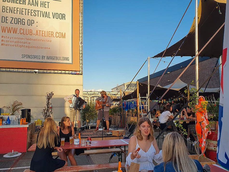 Club Atelier - hotspot Amsterdam terras en sitdown feestjes