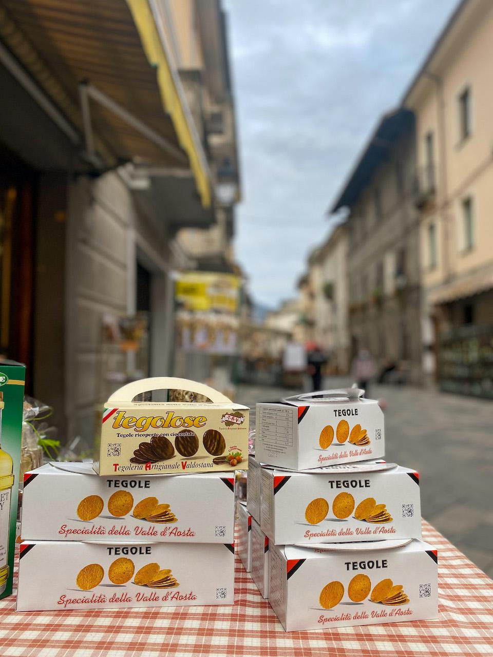 Tegole koekjes - Aosta