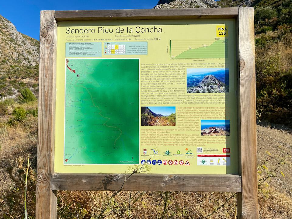 Pico de la Concha vanaf Istan - wandelen in de buurt van Marbella