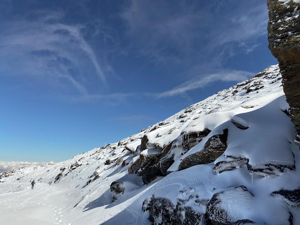 Pico Veleta beklimmen met sneeuwschoenen