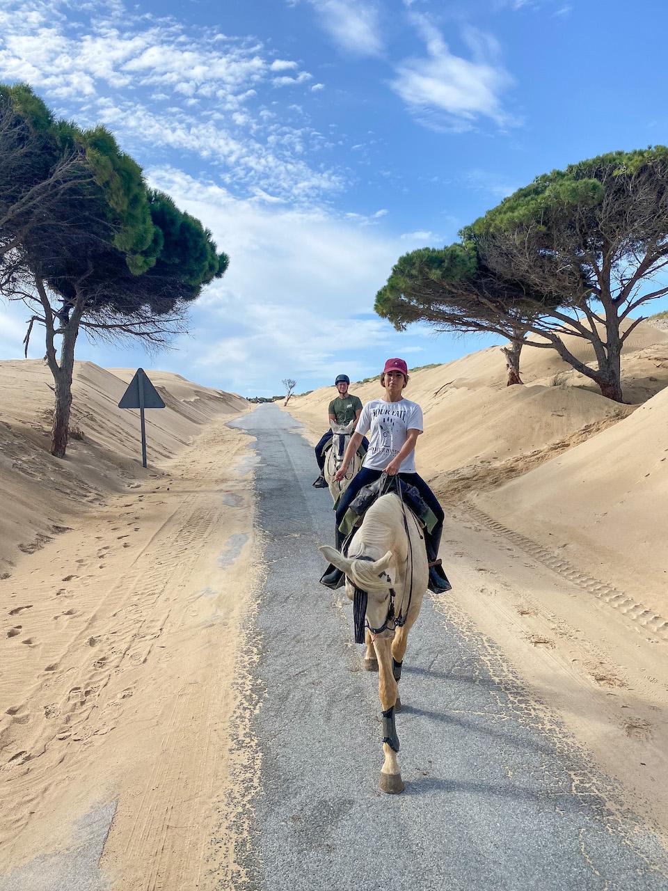 Rutas a Caballo Tarifa paardrijden in Tarifa Punta Paloma