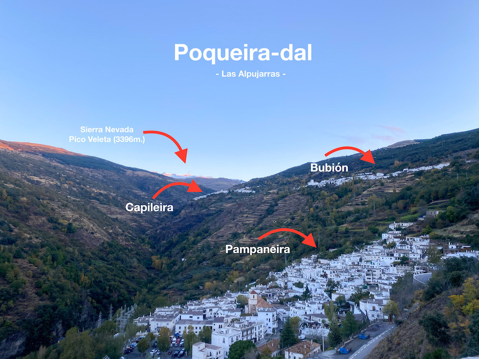 Poqueira-dal - Pampaneira, Bubión en Capileira Alpujarras Mooiste dorpen