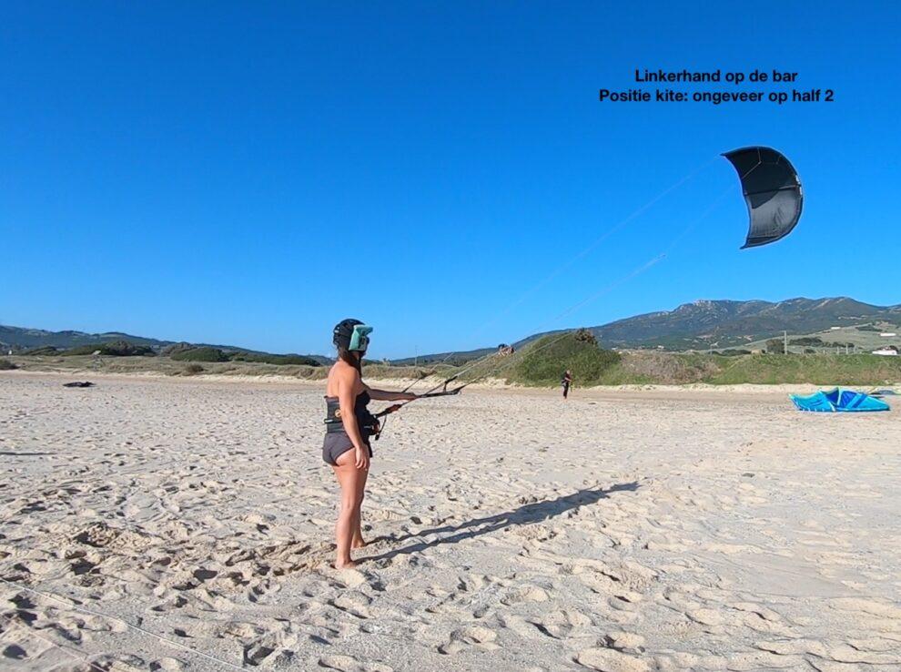 Windvenster - kite controle en in de perfecte kite positie zetten beginners les kitesurf