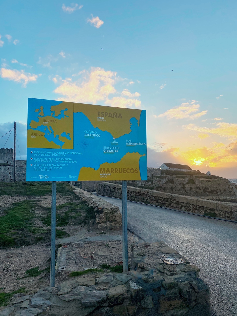 Waar ligt Tarifa? meest zuidelijke puntje van Europa