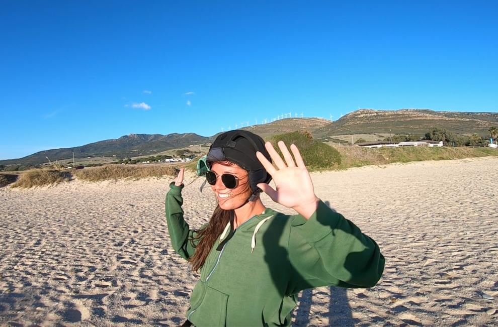 Leren kitesurfen in Tarifa beginners tips  - loslaten van de kite