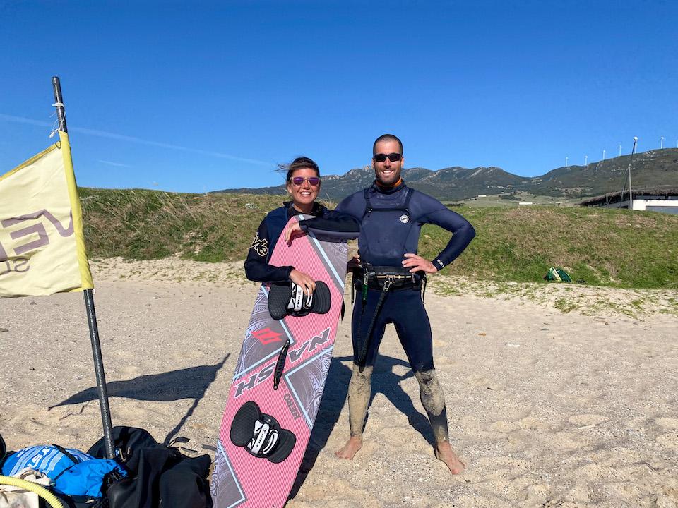 Kitesurfen in Tarifa - Harmen Bakker Kau Pi Kite Valdevaqueros