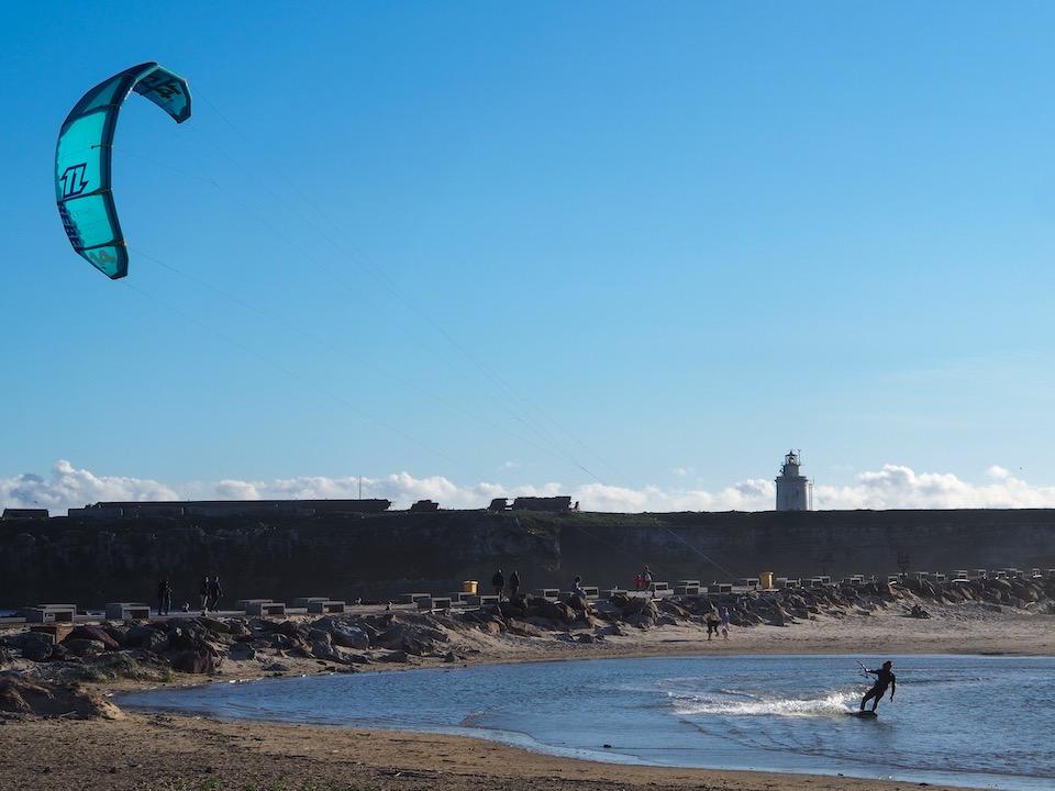 best spot pro kiting Tarifa - Balneario kitesurfen in Tarifa