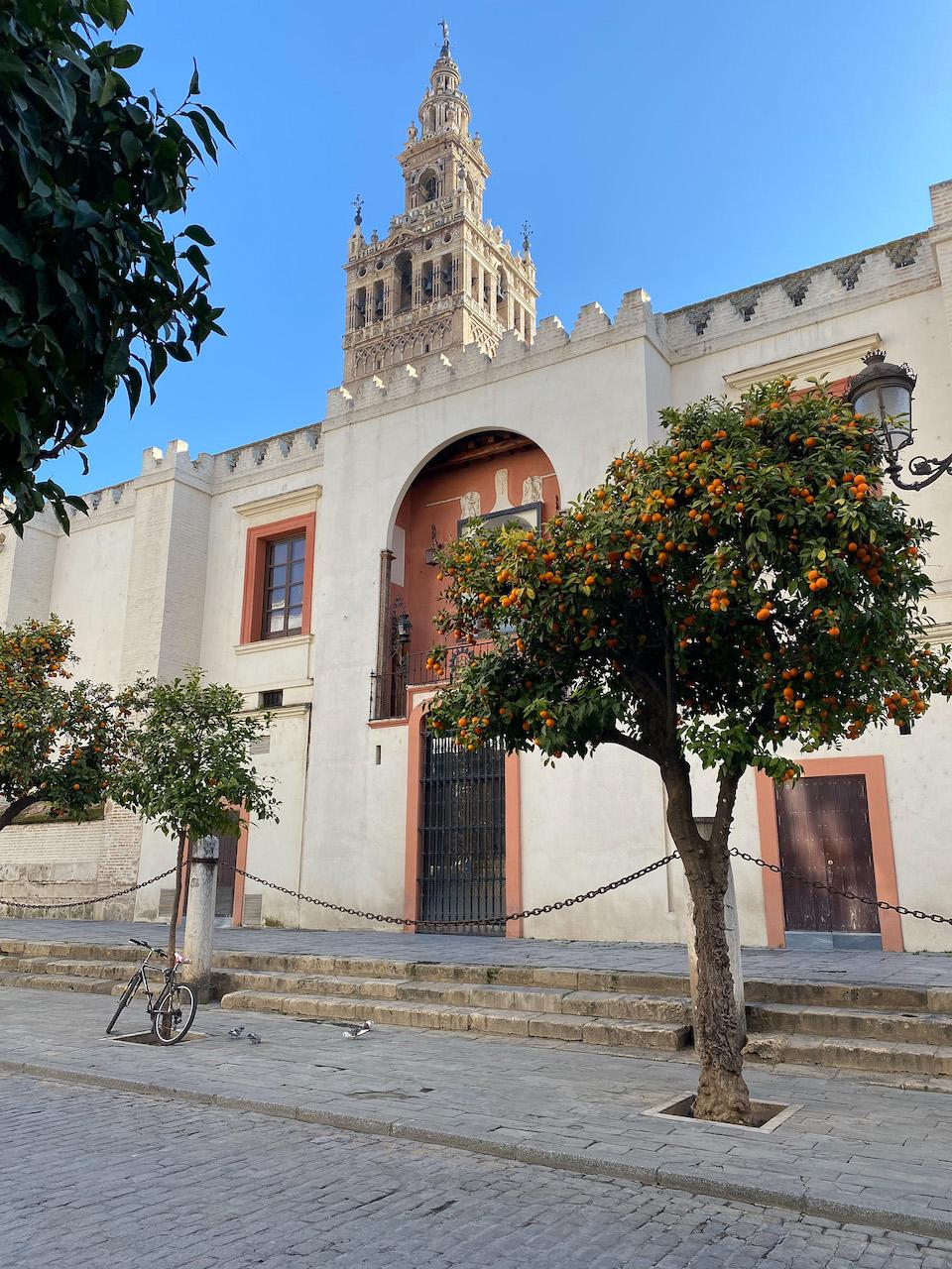 Giralda en kathedraal van SevillaGiralda en kathedraal van Sevilla