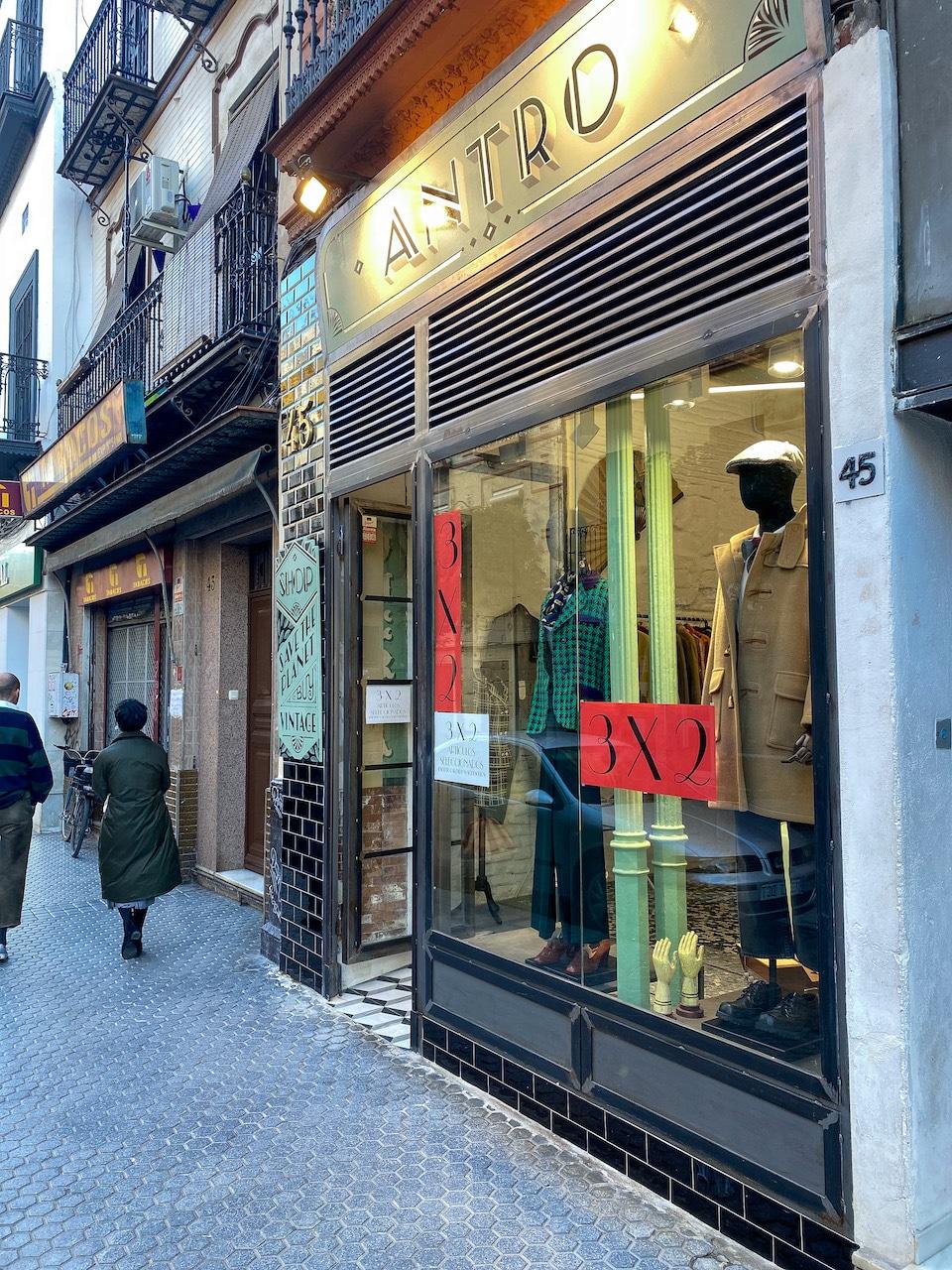 vintage winkels in Sevilla