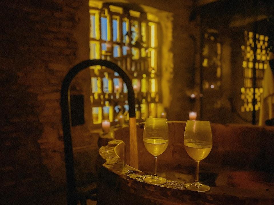 The wine bath experience Sevilla city spa