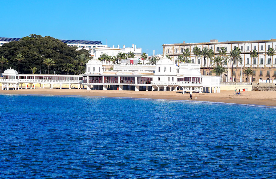 Playa La Caleta - stadsstrand van Cádiz lBalneario Nuestra