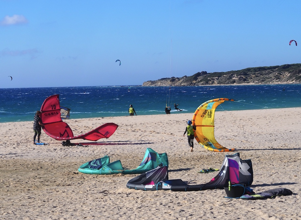 kitesurf spots Los Lances - Agua chiringuito