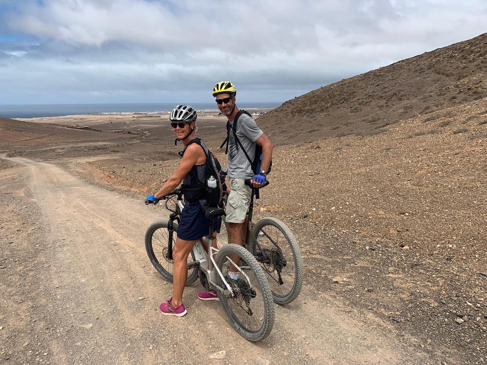 Sabine en Pascal - fietsen op Fuerteventura - Villa Vital