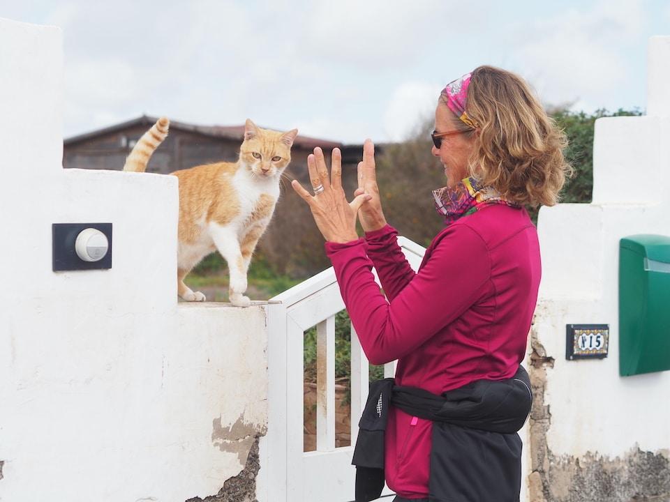 Sabine tijdens een wandel vakantie op Fuerteventura