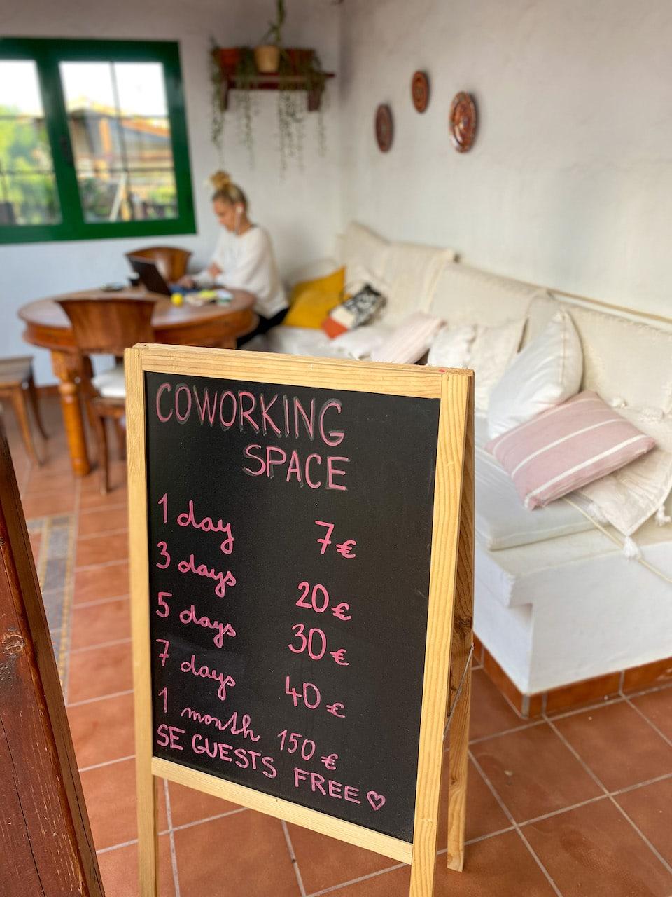 Coworking space op Fuerteventura