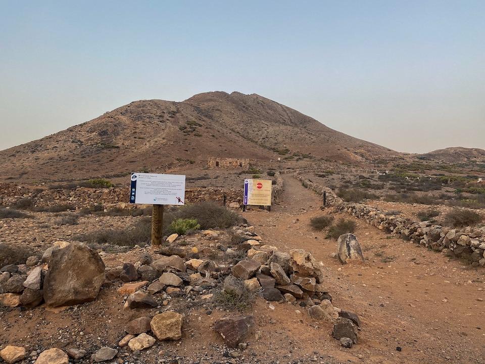 heilige berg Tindaya op de Canarische eilanden