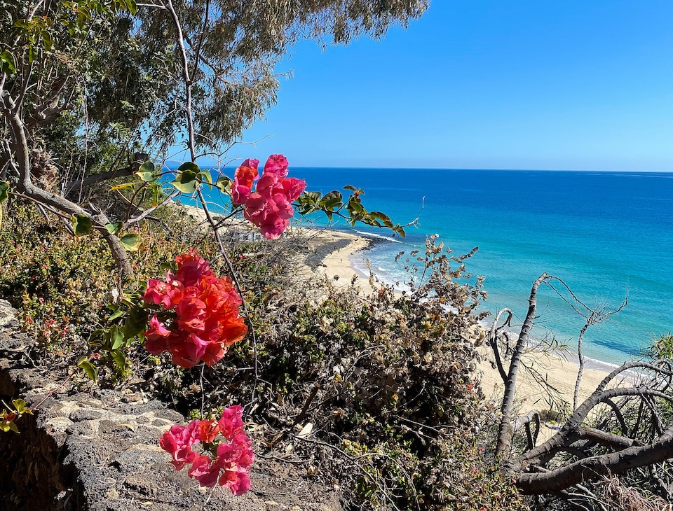 mooiste strand in het zuiden van Fuerteventura -Playa de Esquinzo