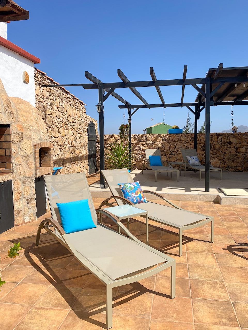 accomodatie met zwembad op Fuerteventura - wandelen en fietsen Villa Vital