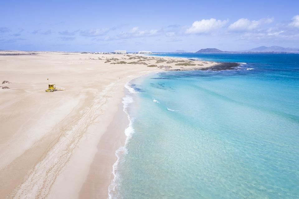 Playas Grandes de Corralejo - mooiste stranden in het noorden van Fuerteventura