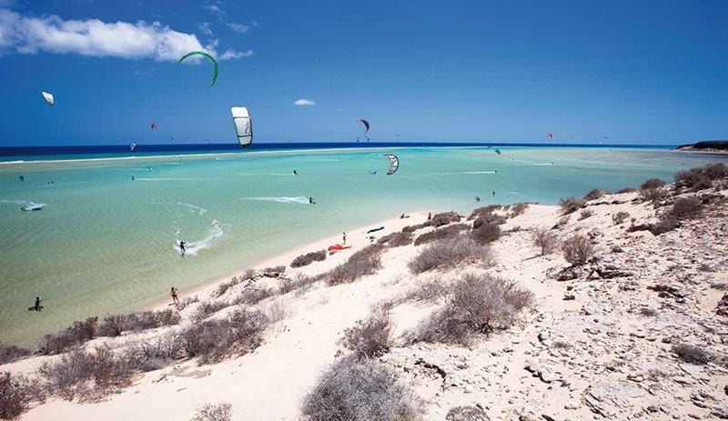 kitesurf spots op Fuerteventura Sotavento Lagoon