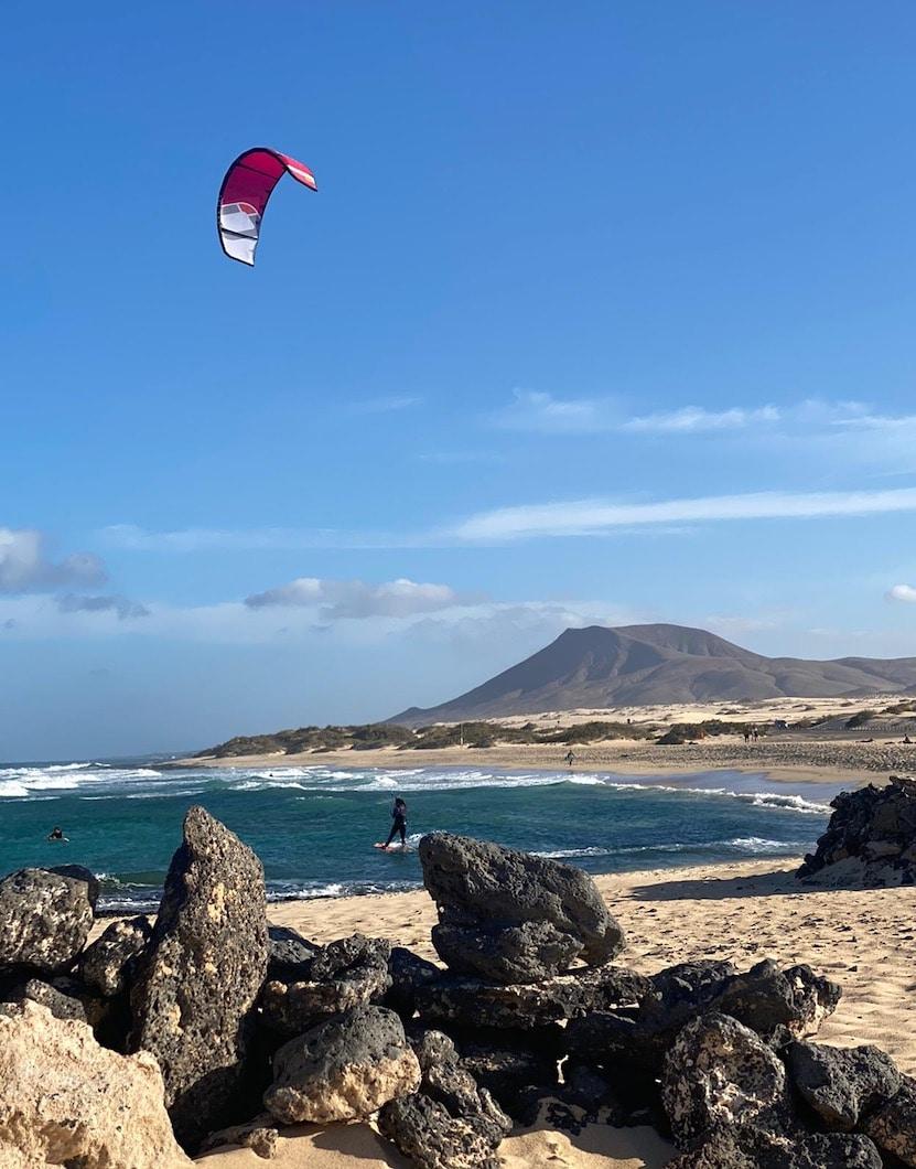 kitesurf spots op Fuerteventura Glass beach - El Burro