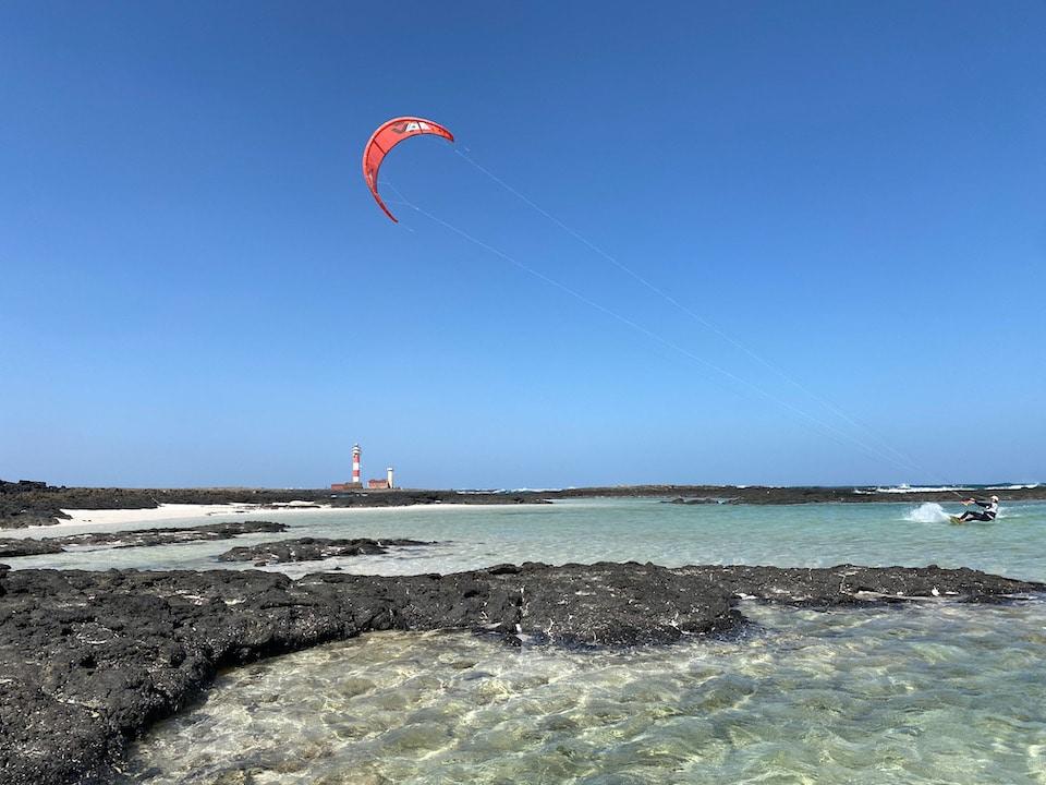 kitesurf spots op Fuerteventura - El Cortillo lagoon