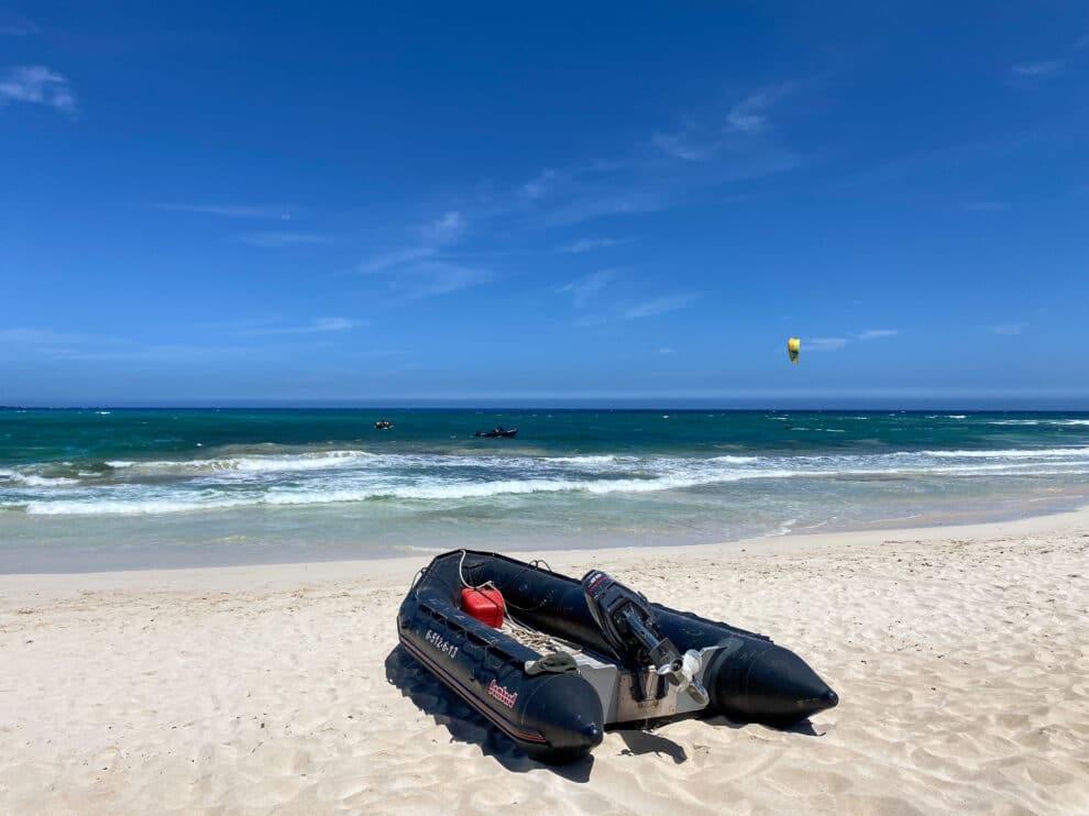 per boot leren kitesurfen op Fuerteventura