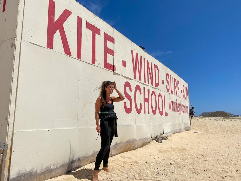 Leren kitesurfen op Fuerteventura