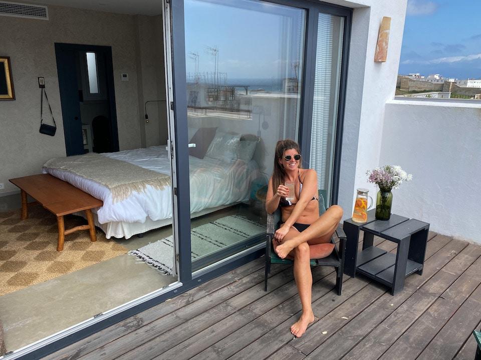 Chloe Sterk in Tarifa vakantie