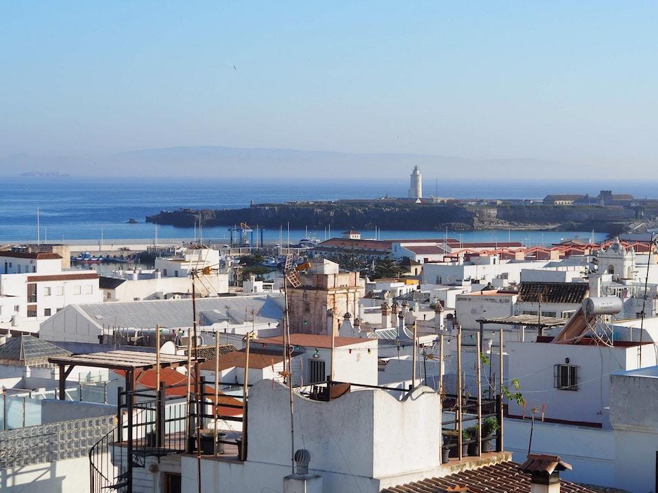 uitzicht Tarifa op Marokko