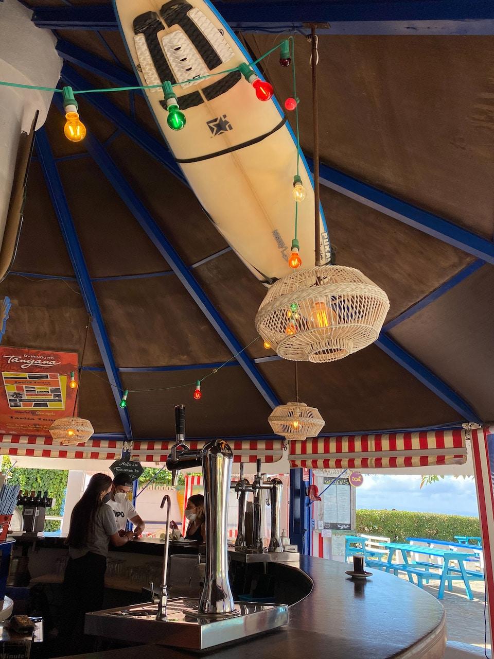 Chiringuito Tangana  eten drinken op strand van tarifa
