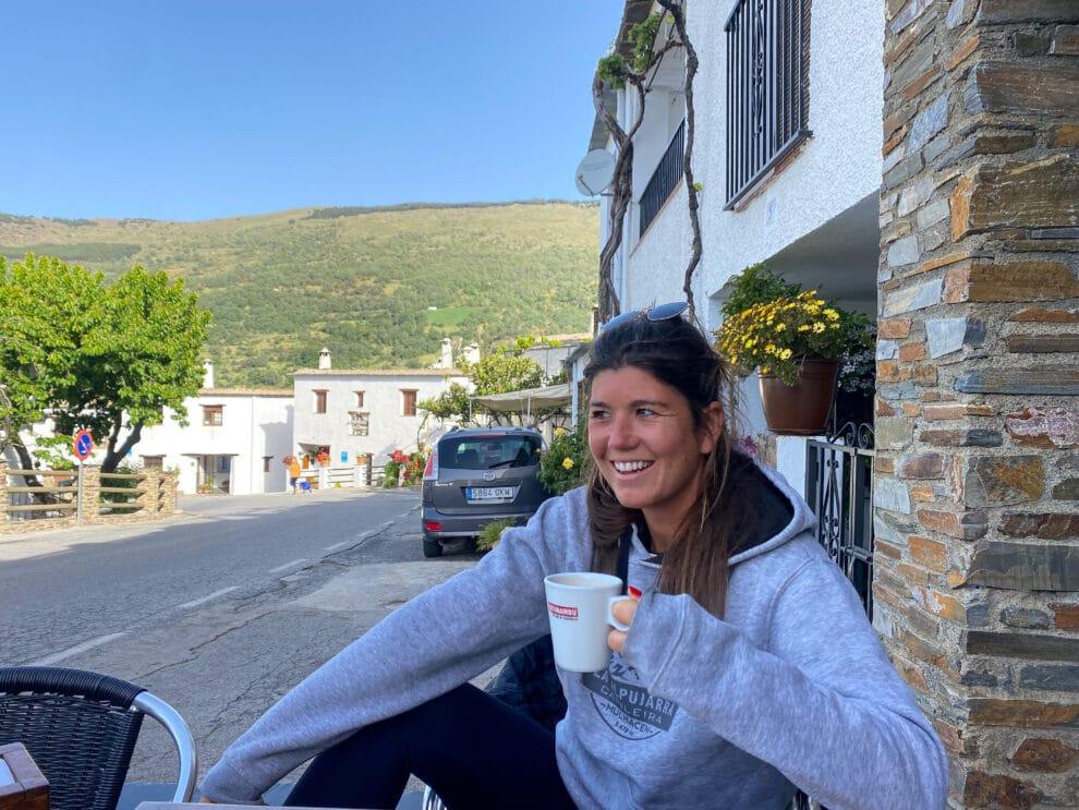 koffie drinken in Capileira alpujarras