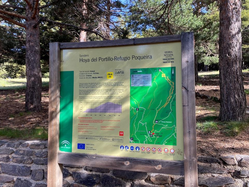 Hoya del Portillo Sierra Nevada parking