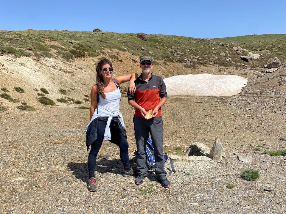 samen met gids Ron in de Sierra Nevada